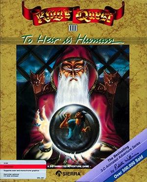 King's Quest III - Apple II cover art by Greg Steffen