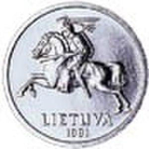 1 centas - Image: LTL 0.01 reverse (1991 issue)