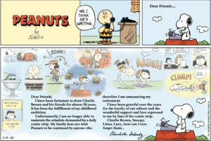Charlie Brown - Final Sunday Strip, which came out on February 13, 2000; one day after the death of Charles M. Schulz.