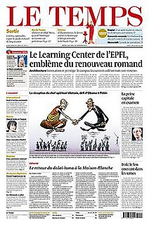 Swiss French-language daily newspaper