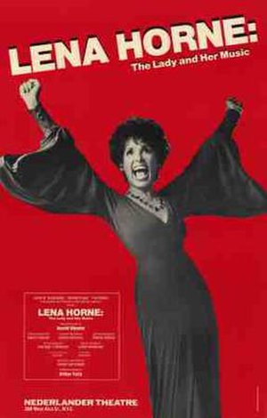 Lena Horne: The Lady and Her Music - 1981 Broadway poster