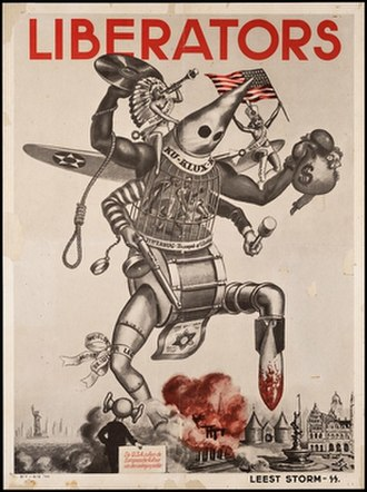 Anti-Americanism - A 1944 German propaganda poster aimed at the Dutch