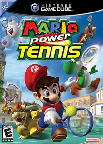 Mario Power Tennis - North American box art