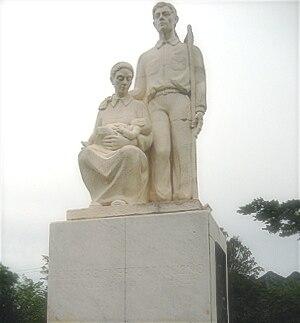 Jíbaro - Image: Monumento al Jíbaro Puertorriqueño
