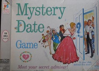 Mystery Date (game) - Mystery Date box cover, 1965