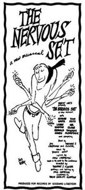 Beatnik - Jules Feiffer's ad art for the Beat musical The Nervous Set was used on the 1959 cast album (reissued in 2002).