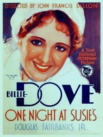 One Night at Susie's - theatrical release poster