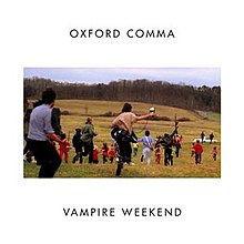 'Oxford Comma' single cover, by Vampire Weekend, via Wikipedia