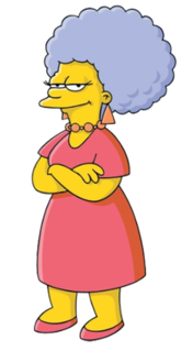 Patty and Selma fictional characters from The Simpsons franchise