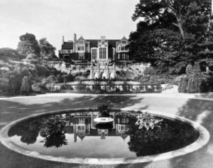 Penn Valley, Pennsylvania - A picture of the Penhurst Mansion and reflecting pool