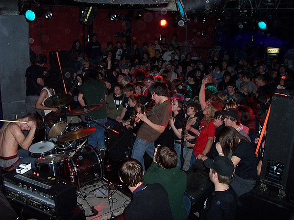 Opening for Alexisonfire, live in St. Catharines, January 2004 ProtestTheHero2004-4.jpg