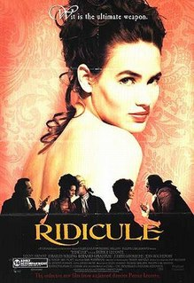 <i>Ridicule</i> (film) 1996 film by Patrice Leconte