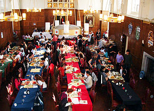 Risley Residential College - Risley's great hall on Harry Potter Night