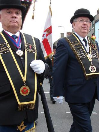 Parades in Northern Ireland - Members of the Royal Black Institution parade in Lisburn on 'Black Saturday', 2007.