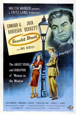 Scarlet Street - theatrical release poster