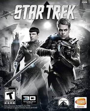 Star Trek (2013 video game) - Cover art featuring Spock (left) and Kirk