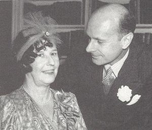 Stewart Perowne - Perowne and Freya Stark on their wedding day in 1947