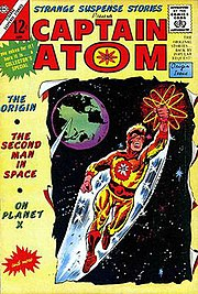 Reflective of his time, Charlton Comics' Captain Atom was an astronaut in his civilian identity. Strange Suspense Stories #75 (June 1965). Cover art by Steve Ditko.