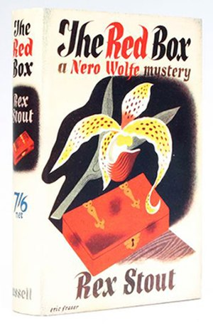 The Red Box - With a dust jacket by illustrator Eric Fraser, the British first edition of The Red Box was the last Nero Wolfe book published by Cassell (1937)