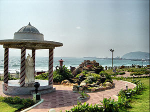 Radha Krishna - The statue if Radha-Krishna on Beach road, Visakhapatnam
