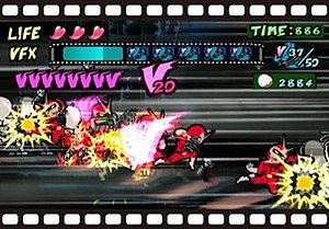 Viewtiful Joe - Image: Viewtiful joe gameplay