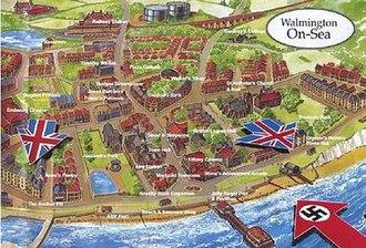 Walmington-on-Sea - Map of the fictional 'Walmington-on-Sea