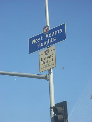 Los Angeles Historic Preservation Overlay Zone - Harvard Heights HPOZ sign