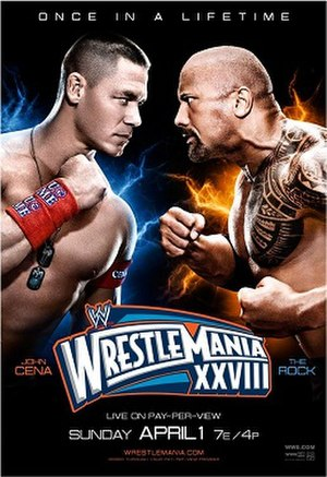 WrestleMania XXVIII - Promotional poster featuring John Cena and The Rock