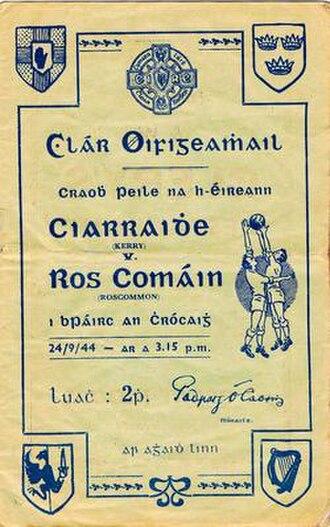1944 All-Ireland Senior Football Championship Final - Image: 1944 All Ireland Senior Football Championship Final programme