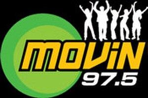 KMVA - Movin 97.5 logo, until November 24, 2010.