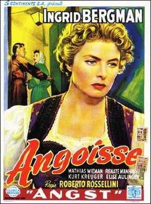 Fear (1954 film) - Belgian theatrical release poster