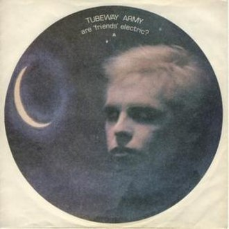 "Are ""Friends"" Electric? - Image: Are Friends Electric? (Tubeway Army single cover art)"