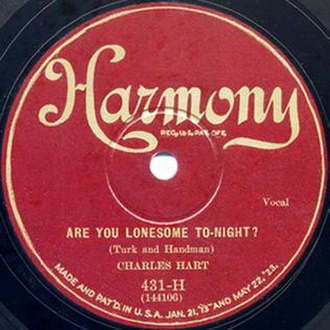 Are You Lonesome Tonight? (song) - Image: Are You Lonesome Tonight Charles Hart