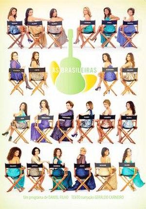 """As Brasileiras - """"A Justiceira de Olinda"""" promotional image, featuring Juliana Paes."""