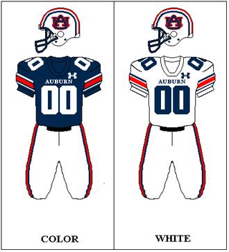 Auburn Tigers football - Image: Auburn Football Uni