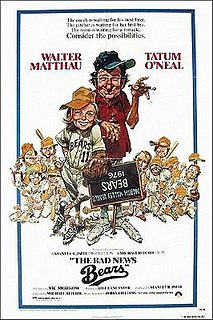 <i>The Bad News Bears</i> 1976 film by Michael Ritchie