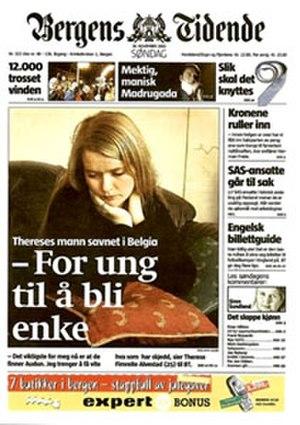 Bergens Tidende - Image: Bergens Tidende Forside Small