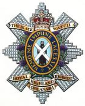 Nemo me impune lacessit - Cap badge of The Black Watch (Royal Highland Regiment) of Canada.