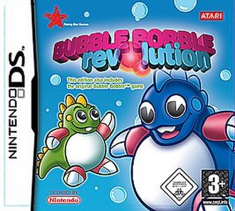 Bubble Bobble Revolution - European cover art