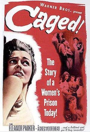 Caged - Theatrical release lobby card