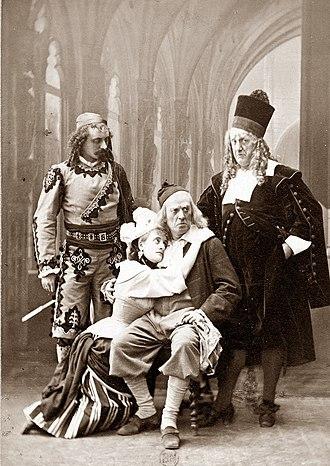 Les cloches de Corneville - Vois, Gélabert, Milher and Luco in the original production