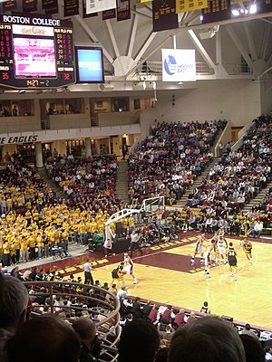 Boston College Eagles men's basketball - BC playing West Virginia at home in 2005.
