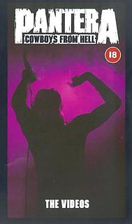 <i>Cowboys from Hell: The Videos</i> 1991 video (VHS) by Pantera