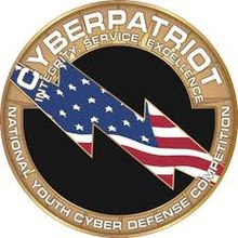 Classic CyberPatriot Logo (Full-Color) (Still used today in some materials, used mainly in the past mostly, most notably on CyberPatriot website)