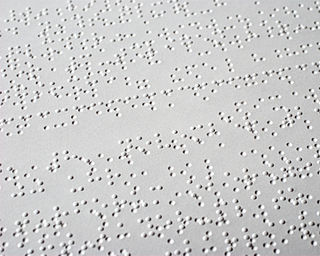 English Braille Tactile writing system for English
