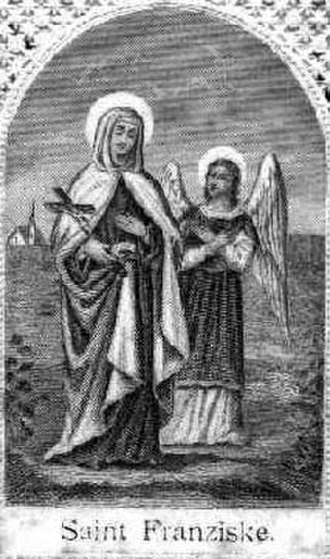 Frances of Rome - Frances of Rome Accompanied by her guardian angel