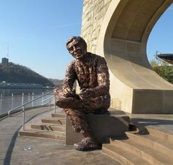 The Fred Rogers Memorial Statue in Pittsburgh,...