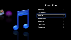 Front Row (software) - Image: Front Row Screenshot