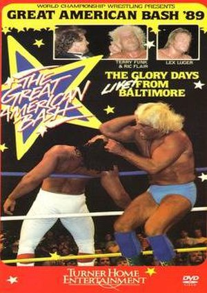 The Great American Bash (1989) - DVD Cover featuring Terry Funk, Ric Flair, Lex Luger and Ricky Steamboat.