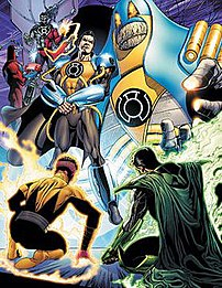 Prominent members of the Sinestro Corps, inclu...